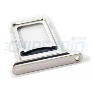 Bandeja Dual SIM iPhone Xs Max A2101 Plata