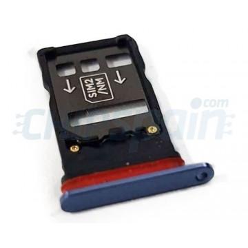 Dual Tabuleiro para cartão SIM Huawei Mate 20 X EVR-L29 Azul
