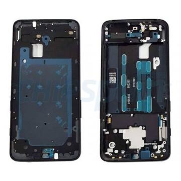 LCD Screen Moldura Frontal OnePlus 6T Preto