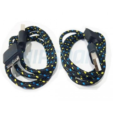 Nylon Braided Style Micro USB 3.0 to USB 3.0 1m Black