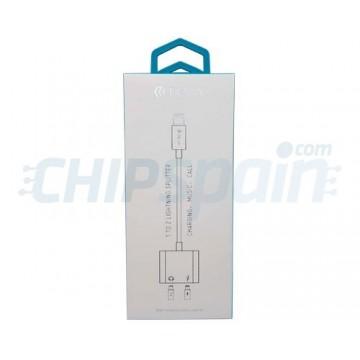 Adaptador Lightning Audio y Carga 2 en 1 Devia Premium