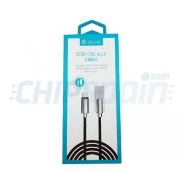 Cabo USB para USB Tipo C 1m Conector Liga de Zinco Devia Premium Preto