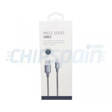 Cable Carga y Datos USB a Lightning 2m Devia Premium Gris