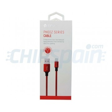 USB to Lightning Cable 2m Devia Premium Red