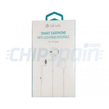 Auscultadores com Ligação Lightning Devia Premium Branco