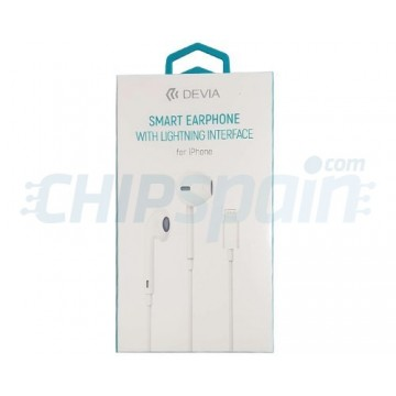 Earphone with Lightning Interface Devia Premium White