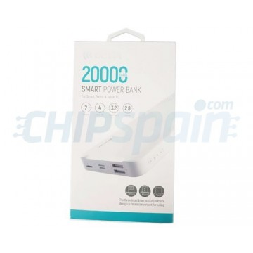 20000mAh Powerbank Devia Premium White