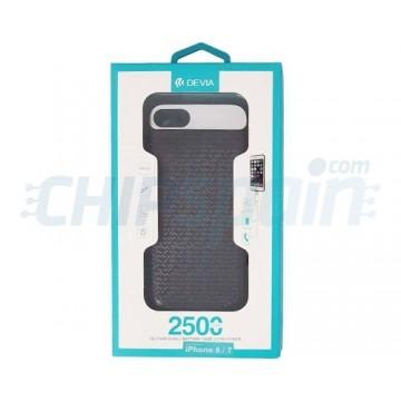 Funda Bateria iPhone 8 iPhone 7 Recargable 2500mAh Negro Devia Premium