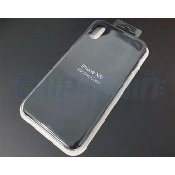 Funda iPhone XR Silicona Premium Negra