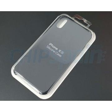 Capa iPhone X / iPhone XS Silicone Premium Preto