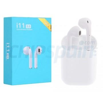 Auriculares móveis sem fios Bluetooth 5.0 TWS-i11 Upgraded Version Branco