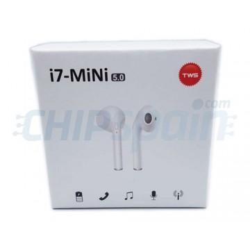 Auriculares móveis sem fios Bluetooth TWS-i7 Mini Branco
