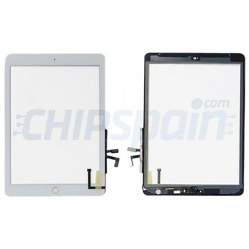 """Pantalla Táctil iPad 5 2017 (9.7"""") A1822 A1823 Blanco Boton Home Plata"""