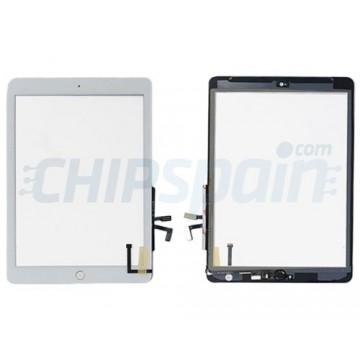"""Vidro Digitalizador Táctil iPad 5 2017 (9.7"""") A1822 A1823 Branco Botão Home Prata"""
