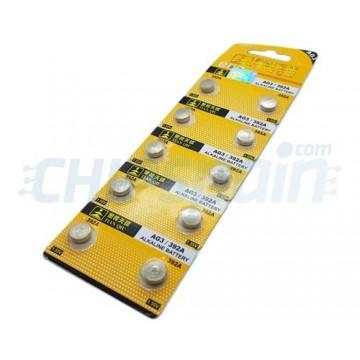 Bateria de Botão Alcalina AG3 392A 1.55V
