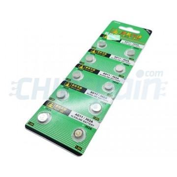 Bateria de Botão Alcalina AG11 362A 1.55V