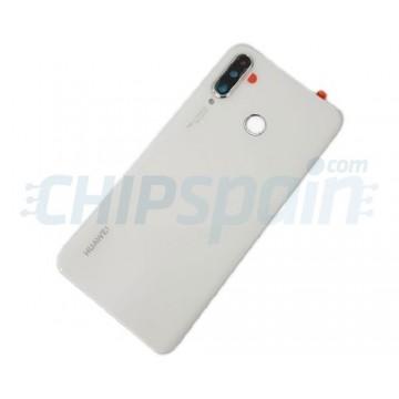 Tampa Traseira Bateria Huawei P30 Lite / Nova 4E com Lente 48MP Branco