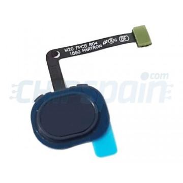 Botão Home com Flex Samsung Galaxy M20 M205 Preto