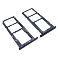 Dual SIM Card Tray and Micro SD Huawei Y7 2019 / Y7 Prime 2019 / Y7 Pro 2019 Black