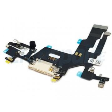 Cable Flex Conector Carga Audio y Micrófono iPhone 11 Blanco