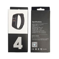 Pulseira Inteligente M4 Touchscreen Android iOS Preto