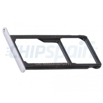 Tabuleiro para cartão Dual SIM e Micro SD Huawei P9 Lite Prata