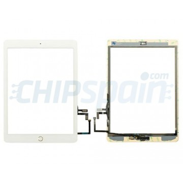 "Touch Screen iPad 5 2017 (9.7"") A1822 A1823 White Home Button Gold"