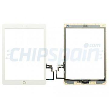 """Vidro Digitalizador Táctil iPad 5 2017 (9.7"""") A1822 A1823 Branco Botão Home Ouro"""