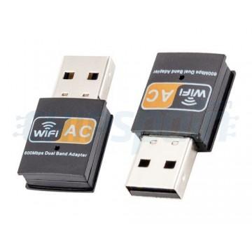 Adaptador WiFi USB 600Mbps AC Dual Band para PC