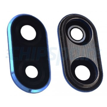 Embellecedor y Lente de Cámara Huawei P20 Lite Azul