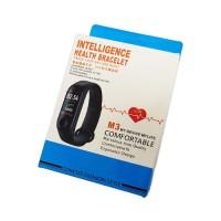 Pulseira Inteligente M3 com Monitor de Frequência Cardíaca Android iOS Preto