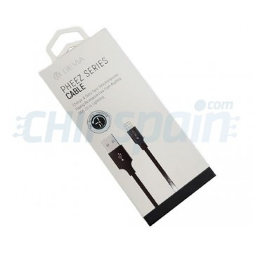 Cable USB a Lightning 1m Devia Premium Negro