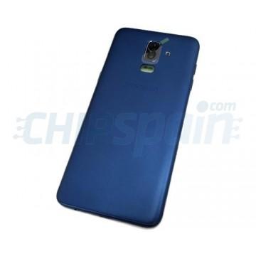 Capa Traseira Bateria Samsung Galaxy J8 2018 J810 com Lente Azul