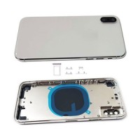 Rear casing Complete iPhone X White