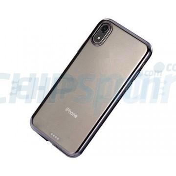 Capa de TPU iPhone XR Transparente Ultra Fino Preto