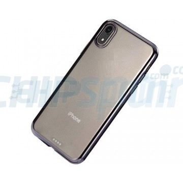 Funda iPhone XR Transparente TPU Ultrafina Negro