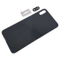 Vidro traseiro iPhone XS Max A2101 Bateria Preto com Suporte e Lente
