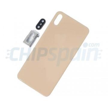 Vidro traseiro iPhone XS Max A2101 Bateria Ouro com Suporte e Lente