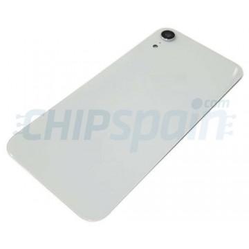 Vidro traseiro iPhone XR A2105 Bateria Branco com Lente