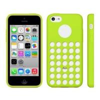 TPU Cover Holes iPhone 5C -Green