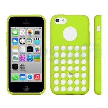 TPU Cover Holes iPhone 5C -Green