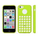 Funda de TPU Agujeros iPhone 5C -Verde