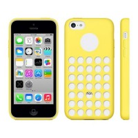 TPU Cover Holes iPhone 5C -Yellow