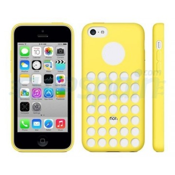 Funda de TPU Agujeros iPhone 5C -Amarillo