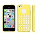 Funda de TPU Buracos iPhone 5C -Amarelo