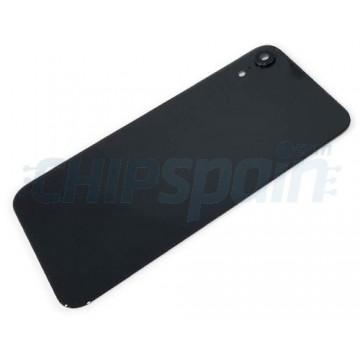 Vidro traseiro iPhone XR A2105 Bateria Preto com Lente