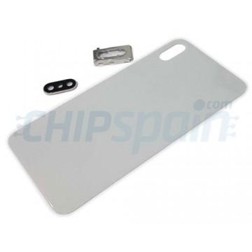 Vidro traseiro iPhone XS Max A2101 Bateria Branco com Suporte e Lente