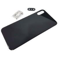 Vidro traseiro iPhone XS A2097 Bateria Preto com Suporte e Lente