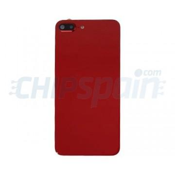 Cristal Trasero con Lente iPhone 8 Plus Batería Rojo