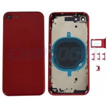 Tampa traseira completa iPhone 8 Vermelho